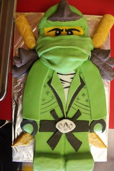 Green Ninjago birthday cake