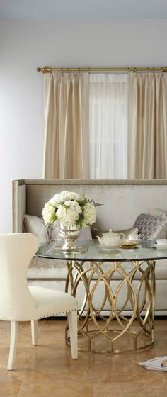 We Love The Soft Colors And All Shimmering Eye Catching Elements Of This Dining Room
