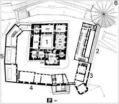 Hämeen linnan pohjakartta 2. kerros