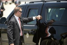 One of the Secret Service's armored Suburbans