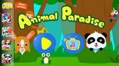 Best android games | Learn Animal Names and Sounds with Baby Panda - Animals Paradise Fun Kids Games