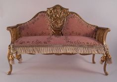 Sofa by Mzia - $400.00 : Swan House Miniatures, Artisan Miniatures for Dollhouses and Roomboxes