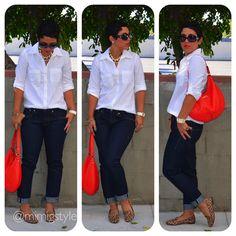 Denim Classics + Leopard Flats |Fashion, Lifestyle, and DIY