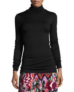 Long-Sleeve Turtleneck, Size: M/6-8, Black - Rachel Pally