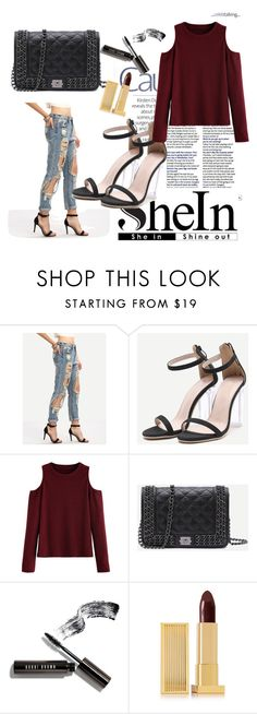 """""""Shein 5/10"""" by zina1002 ❤ liked on Polyvore featuring WithChic, Bobbi Brown Cosmetics and Lipstick Queen"""