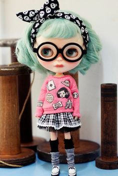 Sugarbabylove - Pink Top set  for Blythe by SugarbabyloveDoll on Etsy https://www.etsy.com/listing/254622893/sugarbabylove-pink-top-set-for-blythe