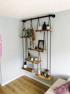 DIY Home Decor, room decor plan number 8937095780 for the truly eye-catching decor. Decor, Home Diy, Diy Hanging Shelves, Sweet Home, Interior, Diy Decor, Diy Home Decor, House Interior, Room Decor