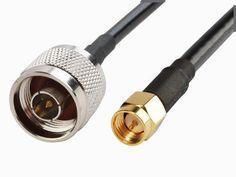 SMA female  RG-400  50 ohm    coax cable US MADE    10  FT     SMA male
