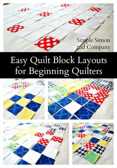 Easy Quilt Layouts for Beginning Quilters - Simple Simon and Company