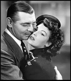 """Clark Gable & Ava Gardner - """"The Hucksters"""" Old Hollywood Glamour, Golden Age Of Hollywood, Classic Hollywood, Hollywood Style, Vintage Hollywood, Classic Actresses, Classic Movies, Actors & Actresses, Clark Gable"""