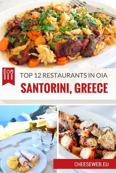 If the gorgeous scenery and sunny beaches werent enough, Adrianas top 12 restaurants, in Oia, will make you want pack your bags for Santorini, Greece today.