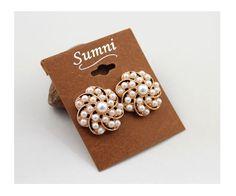 SUMNI Flower-shaped pearl Earrings 3341-7 - EC Chic Fashion Online Store    worldwide Free Shipping