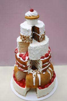 Food Cakes, Cupcake Cakes, Fondant Cakes, Pretty Cakes, Beautiful Cakes, Amazing Cakes, Take The Cake, Love Cake, Unique Cakes