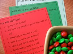 Printable PDF Christmas M Game Party Game Idea by sweetmellyjane, $2.00
