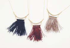 Curator - FREJA NECKLACE - NAVY, $123.00 (http://www.curatorsf.com/freja-necklace-navy/)