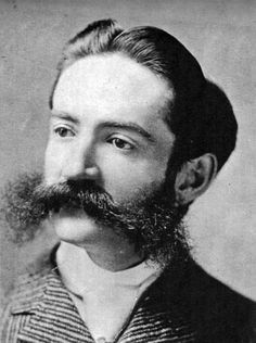 The man himself — Jonathan Bourne Jr. as he appeared in the sporting the most spectacular moustache in town. 1800s Hairstyles, Vintage Hairstyles, Pretty Hairstyles, Vintage Gentleman, Vintage Men, Vintage Images, Vintage Photographs, Moustaches, Natural Hair Men