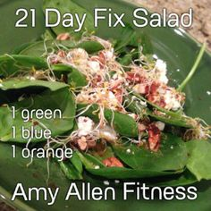 21 day fix salad recipe with homemade balsamic dressing