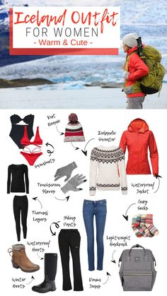 Packing List for Winter: Women's Edition Iceland outfit for women. It's possible to look cute while still staying warm. Iceland Travel Tips, Iceland Shopping, Videos Photos, Packing List For Travel, Packing Tips, Vacation Packing, Traveling Tips, Travelling, Travel Outfit Summer