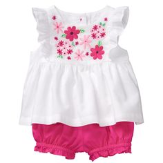 57c6008f8 Baby Girl White Floral Set by Gymboree Newborn Girl Outfits, Baby Girl  Dresses, Baby