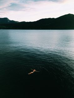F.L.O.A.T.  Great composition and sense of perspective in this shot.  #Photography #Mountains #Swim