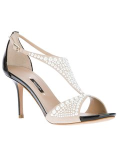Shop for bi-colour stiletto sandal by Baldan at ShopStyle. Giuseppe Zanotti, Jimmy Choo, Leather Sandals, Patent Leather, Christian Dior, Valentino, Pearl Shoes, Chanel, Louboutin