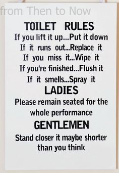 Wooden Funny Plaque Sign Toilet Rules Bathroom, http://www.amazon.co.uk/dp/B00BL3SXZE/ref=cm_sw_r_pi_awd_GEGctb02VHBZ7