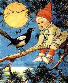 Jenny Nystrom – Swedish) Young gnome, no beard. Vintage Cards, Vintage Postcards, Vintage Images, Christmas Past, Vintage Christmas, Elsa Beskow, Munier, Scandinavian Christmas, Scandinavian Art