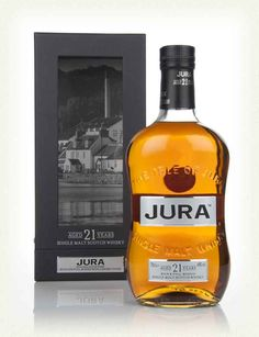 Previously discontinued in it's great to see Isle of Jura 21 Year Old back, and in award-winning form. 21 Years Old, Year Old, Whiskey Bottle, Vodka Bottle, Isle Of Jura, Single Malt Whisky, Scotch Whisky, Bourbon, 21st