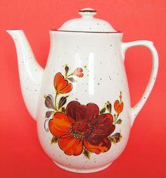 Vintage Ceramic Floral Teapot  Japan by hootandeye on Etsy, $20.00
