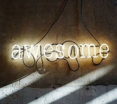 Awesome Neon Sign Ready-made by MarcusConradPoston on Etsy