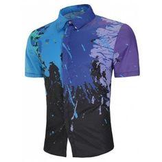 Vintage T-Shirt,Retro Car Splash Artsy Fashion Personality Customization