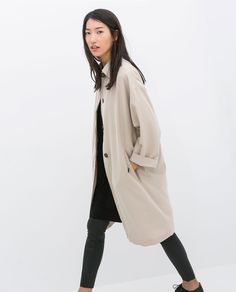 Image 2 of LOOSE-FIT TRENCH COAT from Zara