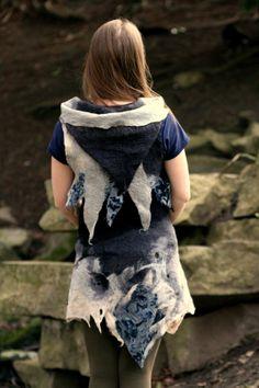 Elven skirt hand felted  pixie skirt  fairy skirt  by tatoke, $95.00
