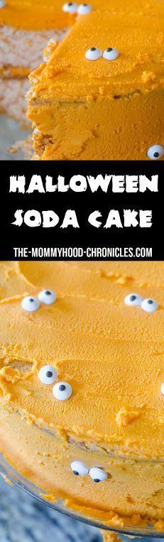 Halloween Soda Cake Recipe! Try It Today!  #HalloweenSodaCake #HalloweenRecipes #HalloweenSodaCake