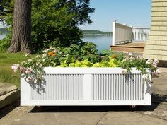 Shutters + Shipping Pallet = Raised-Bed Garden