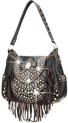 Fringed Rhinestone Handbag