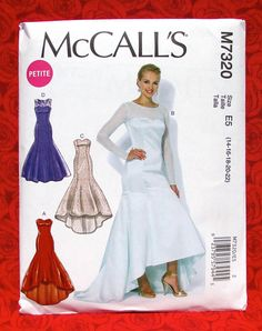 McCall's Sewing Pattern M7320 Formal Gown Long Evening