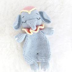 Crochet Pattern Elephant English/ Crochet Elephant PATTERN | Etsy Crochet Security Blanket, Crochet Lovey, Crochet Amigurumi, Lovey Blanket, Amigurumi Patterns, Cat Crochet, Kids Crochet, Crochet Animals, Crochet Toys