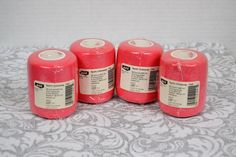 Four (4) Rolls Pink Ace Sports Under Wrap 2-3/4 Inch X 20 Yds Pre-Wrap Hair Tie #Ace