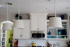 DIY pendant lights