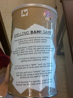 Spelling BAM game! Neat idea to help spelling practice become more interesting.