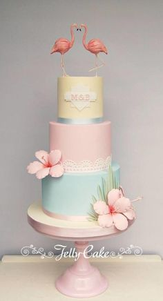 American Riviera Wedding Cake by JellyCake - Trudy Mitchell - http://cakesdecor.com/cakes/235516-american-riviera-wedding-cake