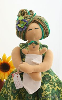 Birthing and Breastfeeding MamAmor doll - OLIVIA | MamAmor Dolls
