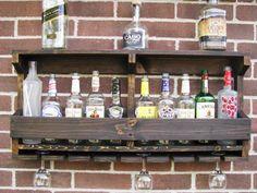 Beautiful Rustic Hanging Liquor Rack Hanging Wine By CoolAndUsefulThings