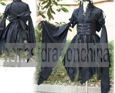 Gothic Lolita Cosplay Kostüme Kleid Chii Chobits Maßanfertigung Black Butler B16
