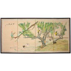 "36"" Birds in the Garden 1 - OrientalFurniture.com"