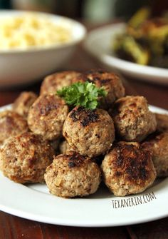 Gluten-free Swedish Meatballs - just as delicious as the more traditional, breadcrumb filled version! | texanerin.com