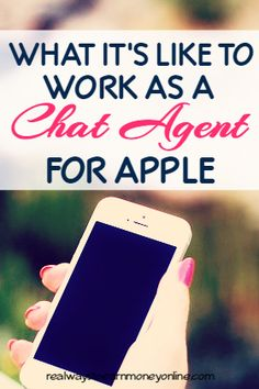Did you know that Apple regularly hires work at home chat agents? In this post, someone who is actually doing this job from home shares information on what it's like and how much money you can make.