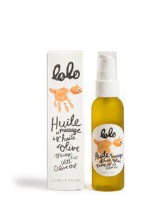 Massage Oil with Olive Oil - Lolo Massage Bebe, Massage Oil, Olives, Lolo, Oil Bottle, Bottle Design, Drink Bottles, Natural Skin Care, Olive Oil