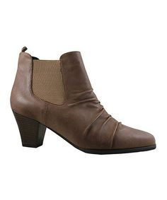 Take a look at this Taupe Doc Ankle Boot by Ros Hommerson on #zulily today!